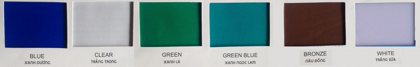 bảng mã màu tấm lợp lấy sáng thông minh polycarbonate đặc ruột