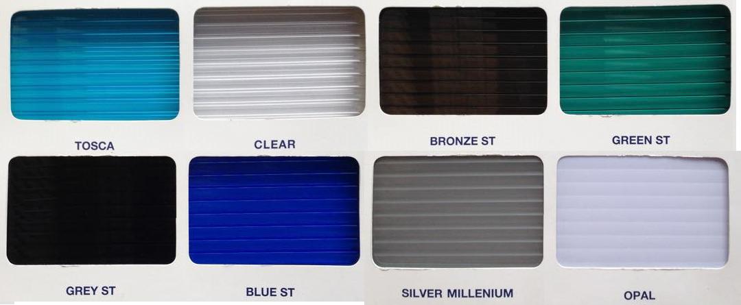 Mã màu Tấm lợp lấy sáng thông minh polycarbonate solarlite Clear