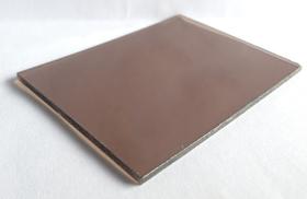 Tấm lợp lấy sáng thông minh polycarbonate đặc ruột nâu đồng bronze