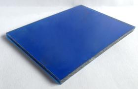 Tấm lợp lấy sáng thông minh polycarbonate đặc ruột xanh dương blue