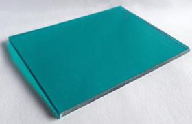 Tấm lợp lấy sáng thông minh polycarbonate đặc ruột xanh ngọc lam green blue
